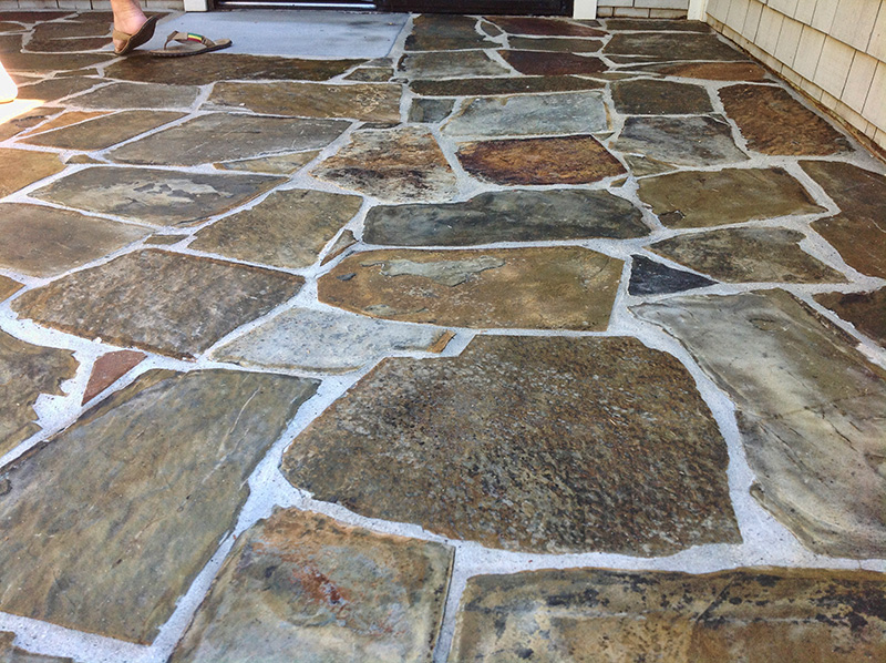 Dallas Flagstone Floor Restoration Cleaning Polishing