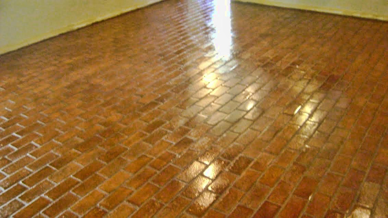 Dallas Brick Floor Restoration Cleaning Polishing