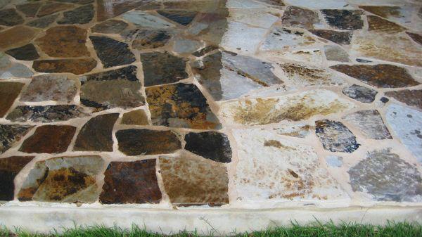 Dallas Flagstone Floor Restoration Cleaning Polishing